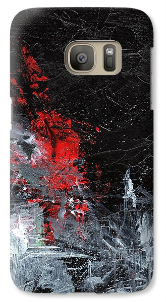 Galaxy Case featuring the painting Painting Death by Sean Seal
