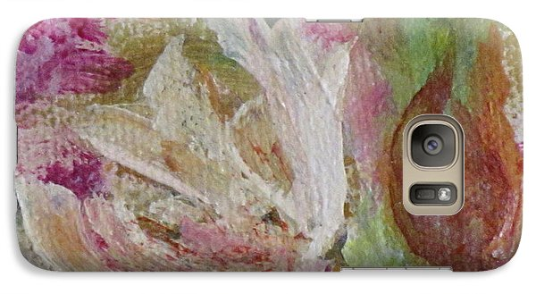 Galaxy Case featuring the painting Painting Soft Flowers 2 by France Laliberte