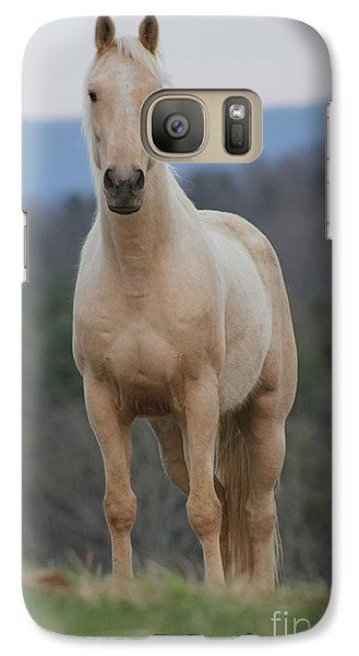 Galaxy Case featuring the photograph Palamino Horse by Laurinda Bowling