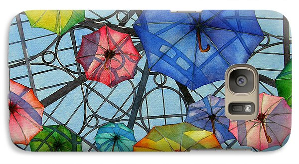 Galaxy Case featuring the painting Palazzo Parasols by Judy Mercer