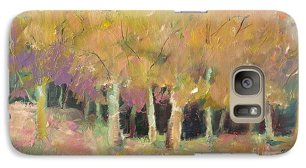 Galaxy Case featuring the painting Pale Forest by Michelle Abrams