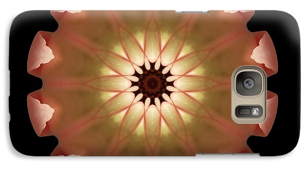 Galaxy Case featuring the photograph Pale Pink Tulip Flower Mandala by David J Bookbinder