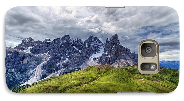 Galaxy Case featuring the photograph Pale San Martino - Hdr by Antonio Scarpi