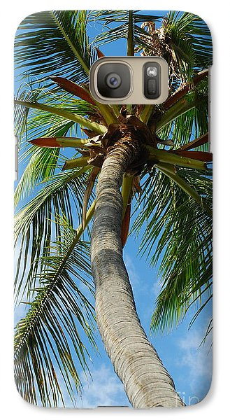 Galaxy Case featuring the photograph Palm And Sky by Kathy Gibbons
