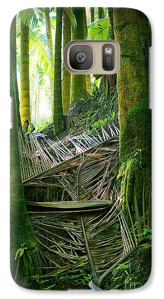 Galaxy Case featuring the photograph Palm Forest by Ellen Cotton