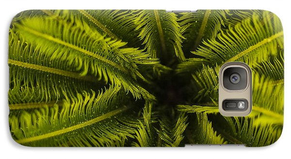 Galaxy Case featuring the photograph Palm Fronds by Amber Kresge