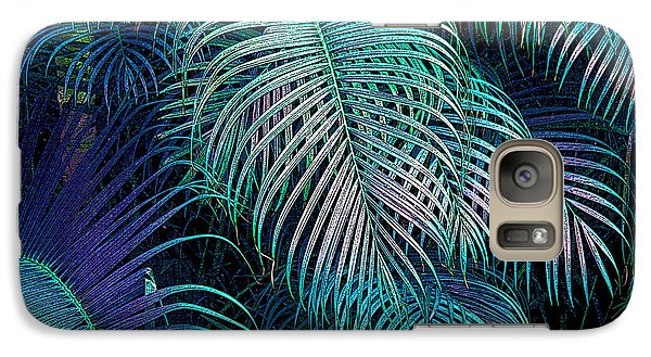 Galaxy Case featuring the photograph Palm Fronds by Mariarosa Rockefeller