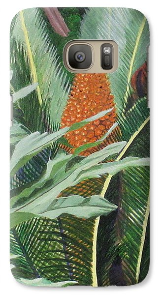 Galaxy Case featuring the painting Palm King by Hilda and Jose Garrancho