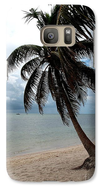 Galaxy Case featuring the photograph Palm On The Beach by Christiane Schulze Art And Photography