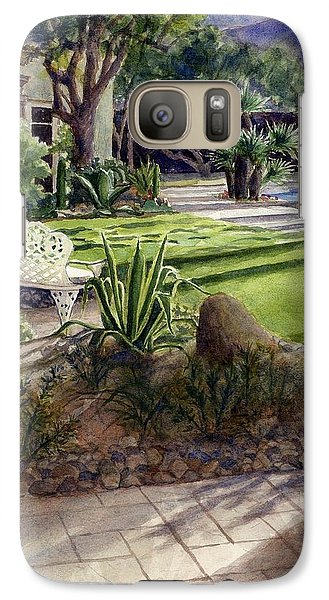 Galaxy Case featuring the painting Palm Springs Backyard by Janet King