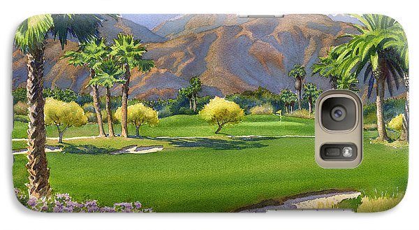 Palm Springs Golf Course With Mt San Jacinto Galaxy S7 Case by Mary Helmreich