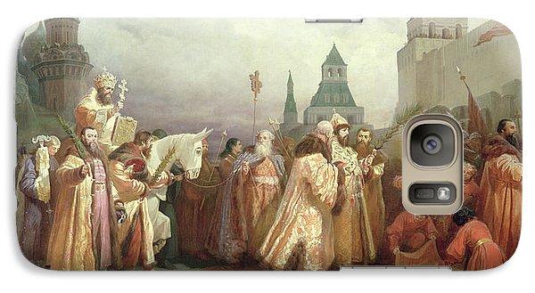 Palm Sunday Procession Under The Reign Of Tsar Alexis Romanov Galaxy S7 Case by Viatcheslav Grigorievitch Schwarz