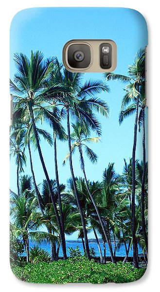 Galaxy Case featuring the photograph Palm Tree Gathering by Karen Nicholson