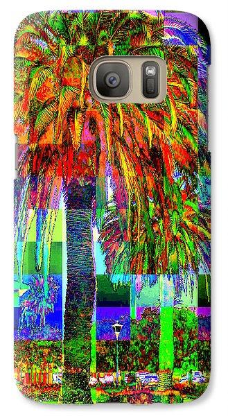 Galaxy Case featuring the photograph Palm Tree by Jodie Marie Anne Richardson Traugott          aka jm-ART