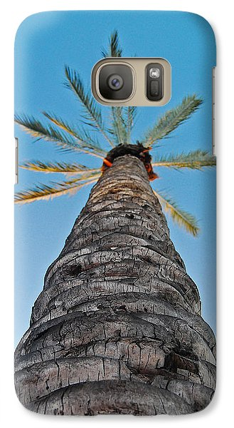 Galaxy Case featuring the photograph Palm Tree Looking Up by Maggy Marsh