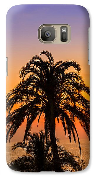 Palm Tree Sunset Vertical Galaxy S7 Case