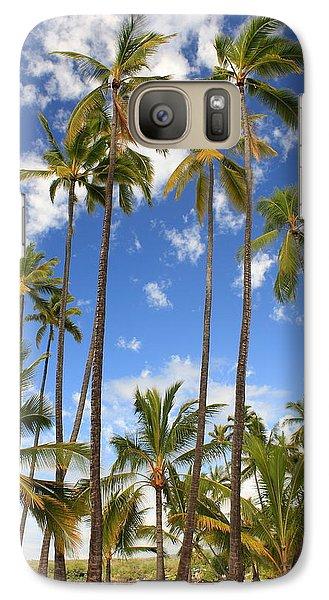Galaxy Case featuring the photograph Palm Trees At Pu'uhonua O Honaunau Nhp by Scott Rackers