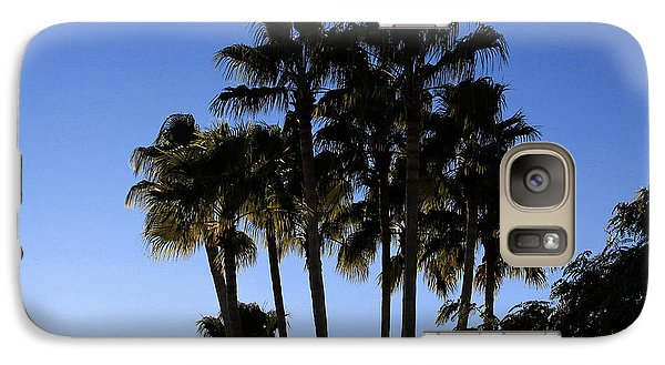 Galaxy Case featuring the photograph Palm Trees by Chris Thomas