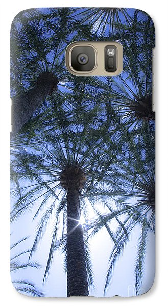 Galaxy Case featuring the photograph Palm Trees In The Sun by Jerry Cowart