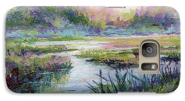 Galaxy Case featuring the painting Palmer Hayflats by Karen Mattson