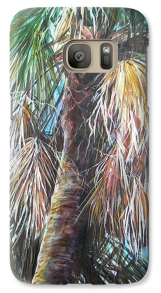 Galaxy Case featuring the painting Palmetto 1 by Gloria Turner