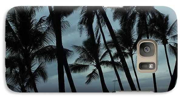 Galaxy Case featuring the photograph Palms At Dusk by Suzanne Luft
