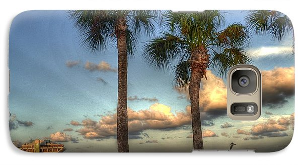 Galaxy Case featuring the photograph Palms At The Pier by Timothy Lowry