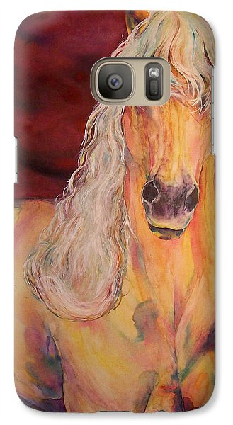 Galaxy Case featuring the painting Palomino Ruby  by Christy  Freeman