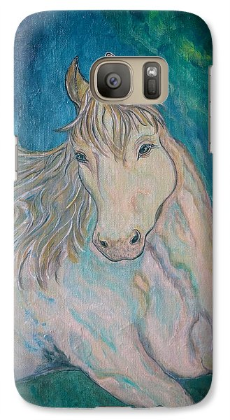 Galaxy Case featuring the painting Palomino Thunder by Ella Kaye Dickey