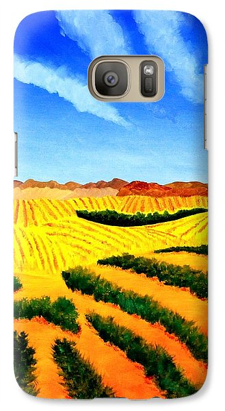 Galaxy Case featuring the painting Palouse by Thomas Gronowski