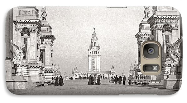 Galaxy Case featuring the photograph Pan Am Tower Approach 1901 by Martin Konopacki Restoration