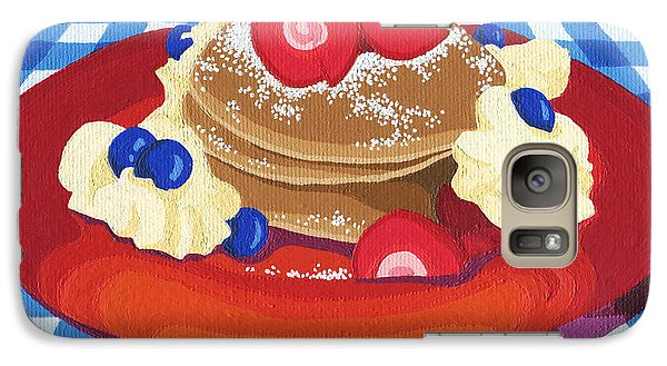 Galaxy Case featuring the painting Pancakes Week 10 by Meg Shearer