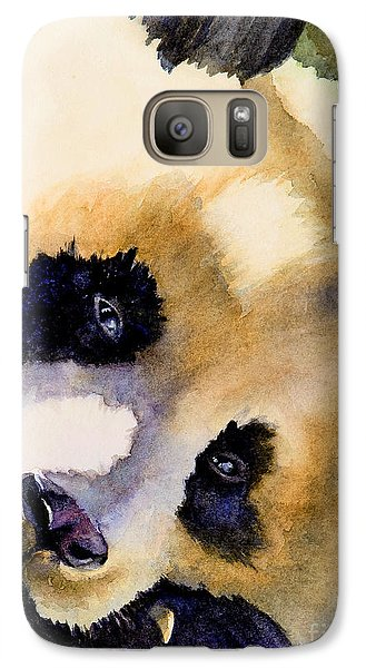 Galaxy Case featuring the painting Panda Cub by Bonnie Rinier