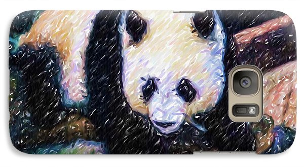 Galaxy Case featuring the painting Panda In The Rest by Lanjee Chee