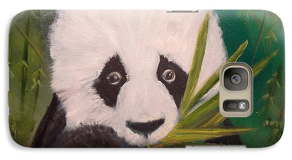 Galaxy Case featuring the painting Panda by Jenny Lee