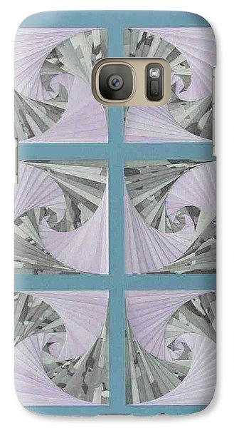 Galaxy Case featuring the mixed media Panes by Ron Davidson