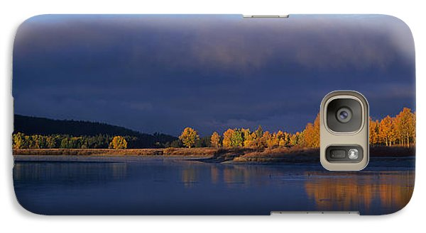 Galaxy Case featuring the photograph Panorama Clearing Storm Oxbow Bend Grand Tetons National Park Wyoming by Dave Welling