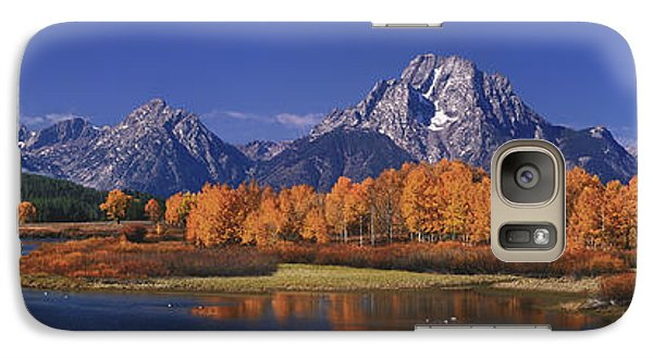 Galaxy Case featuring the photograph Panorama Fall Morning Oxbow Bend Grand Tetons National Park Wyoming by Dave Welling