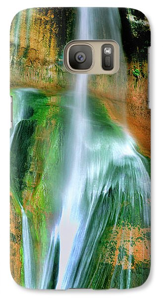 Galaxy Case featuring the photograph Panorama Lower Calf Creek Falls Escalante Nm Utah by Dave Welling