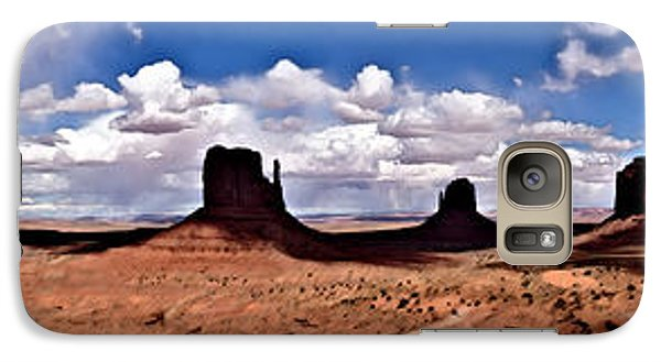 Galaxy Case featuring the digital art Panorama - Monument Valley Park by David Blank