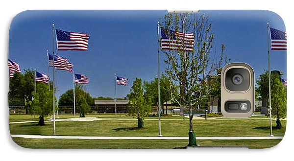 Galaxy Case featuring the photograph Panorama Of Flags - Veterans Memorial Park by Allen Sheffield