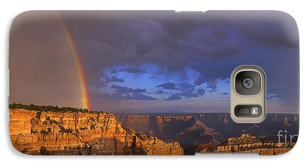 Galaxy Case featuring the photograph Panorama Rainbow Over Cape Royal North Rim Grand Canyon National Park by Dave Welling