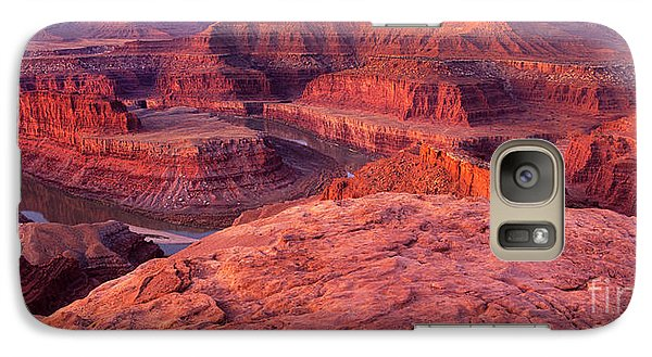 Galaxy Case featuring the photograph Panorama Sunrise At Dead Horse Point Utah by Dave Welling