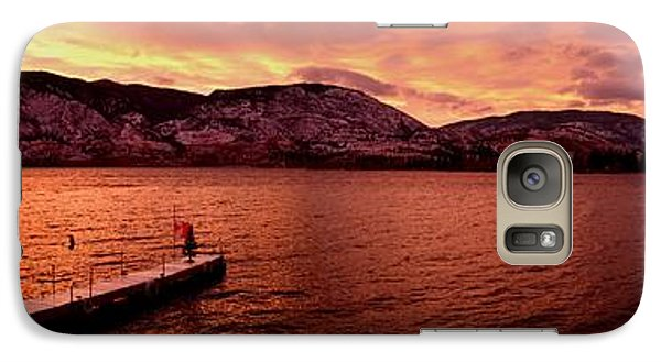 Galaxy Case featuring the photograph Panorama Sunset Skaha Lake by Guy Hoffman
