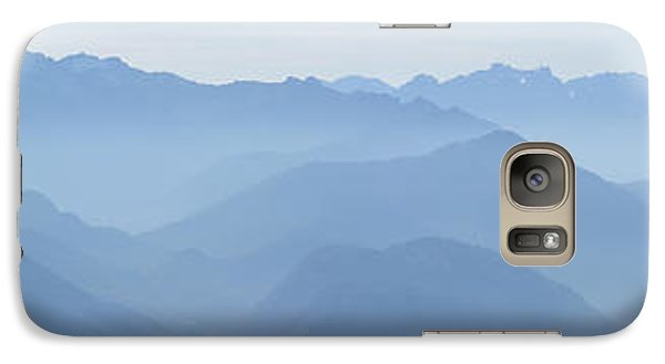 Galaxy Case featuring the photograph Panorama View Of The Bavarian Alps by Rudi Prott