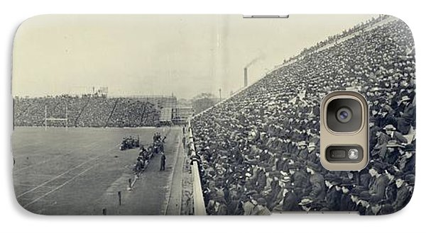 Panoramic Photo Of Harvard  Dartmouth Football Game Galaxy Case by Edward Fielding