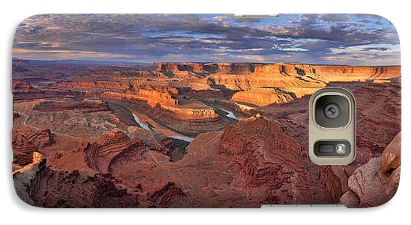 Galaxy Case featuring the photograph Panoramic Sunrise Over Dead Horse Point State Park by Sebastien Coursol
