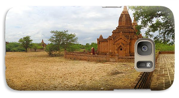 Galaxy Case featuring the photograph Panoramic View Next To Dhammayazika Pagoda Built In 1196 By King Narapatisithu by Ralph A  Ledergerber-Photography