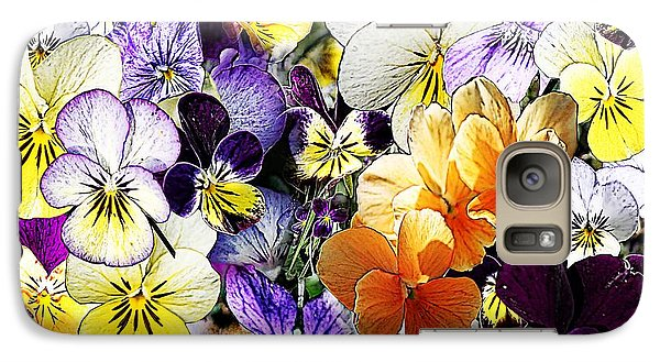 Galaxy Case featuring the photograph Pansy Posy by Erica Hanel