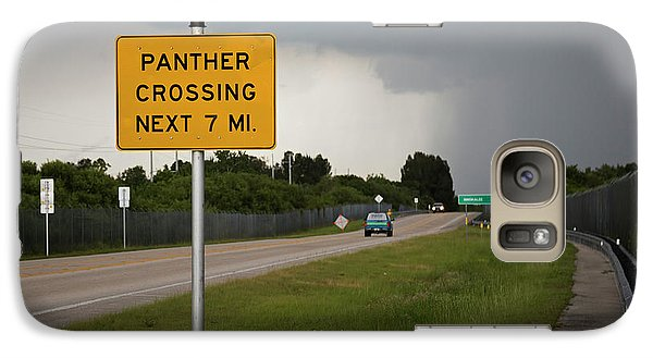 Panther Warning Sign Galaxy S7 Case by Jim West